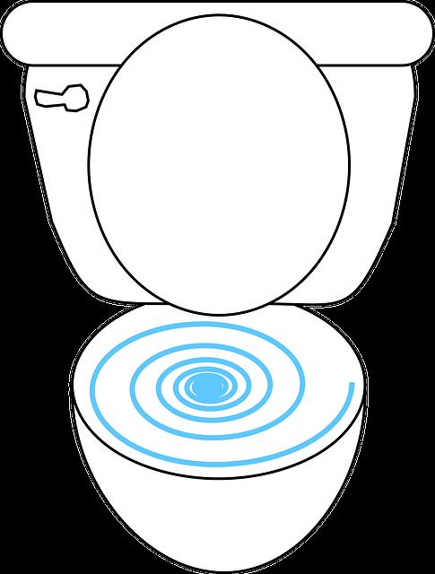 toilet flushing prepared